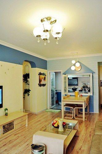 81平3居室最美田园风装修 改造阳台变厨房 淋浴房